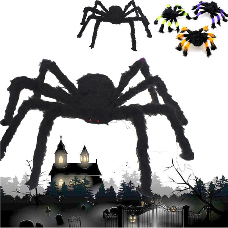 Spider Halloween Decoration Haunted House Prop Indoor Outdoor Black Giant 300 mm