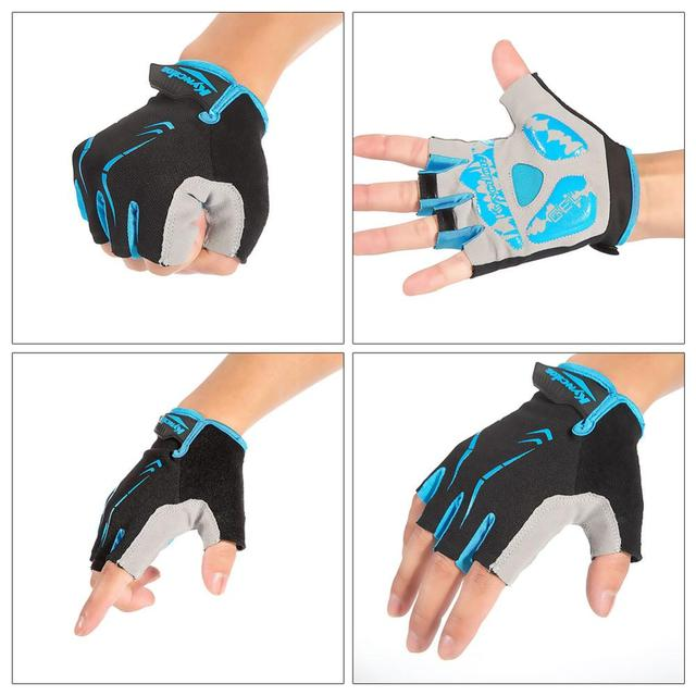 Cycling bike half short finger gloves shockproof breathable mtb road bicycle gloves men women sports cycling equipment
