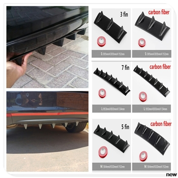 car Rear Bumper Lip Diffuser Fin Shark for BMW E34 F10 F20 E92 E38 E91 E53 E70 X5 M M3 E46 E39 E38 E90 M140i 530i 128i image