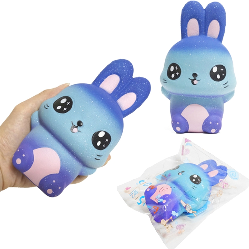 New Starry Sky Rabbit Jumbo Squishy Slow Rising Squeeze Stress Relief Kid Toys  Y4UD
