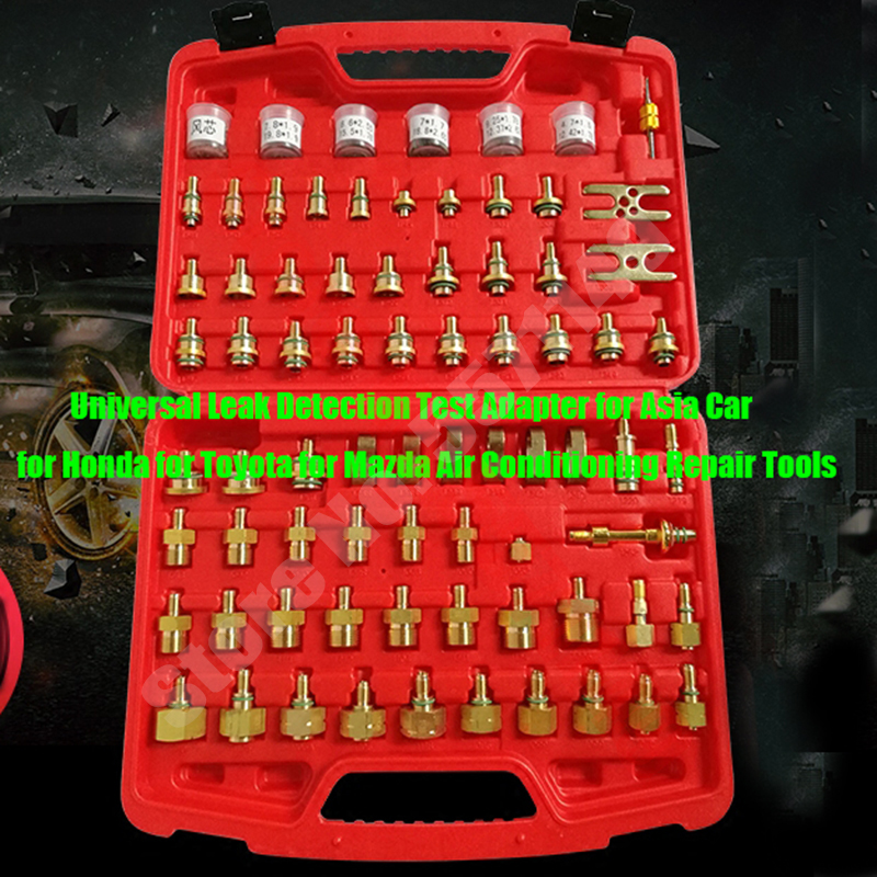 Adaptateur universel dessai de détection de fuite pour la voiture dasie pour Honda pour Toyota pour des outils de réparation de climatisation de Mazda