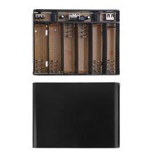 Wxtb usb dc 12v saída 6x18650 baterias ups diy power bank box carregador para telefone celular roteador wi fi led luz câmera de segurança