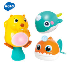 HOLA 8101&8102&8103 Bath Toy Bathing Spouts Bubble Whale bathroom And Bathtub Soap Automatic Bubble Maker(China)