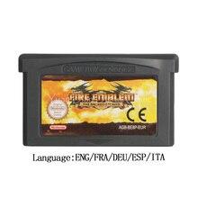 닌텐도 GBA 비디오 게임 카트리지 콘솔 카드 FireEmblem 신성한 돌 EU 버전