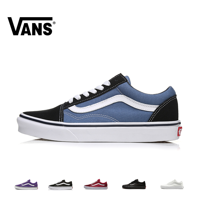 VANS OLD SKOOL Men And Women Skateboard Shoes Multicolor Original Authentic Outdoor Sports Classic Leisure Series VN000D3HNVY