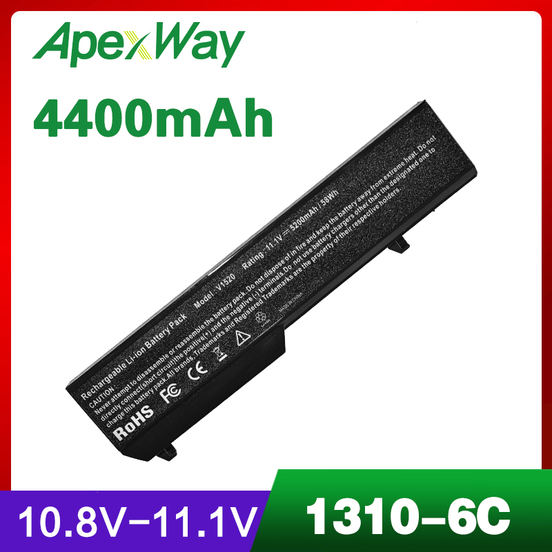 4400mAh Battery For DELL Vostro 1310 1320 1510 1520 1521 2510 K738H 0K738H 0N950C G274C K738H N950C N956C N958C T112C T114C