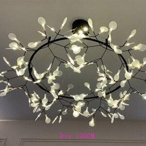 Image 2 - Lampe suspendue circulaire suspendue en forme de feuille darbre luciole, design moderne, éclairage dintérieur, luminaire décoratif, idéal pour un Bar ou un Restaurant, AL127B, lampe à LED