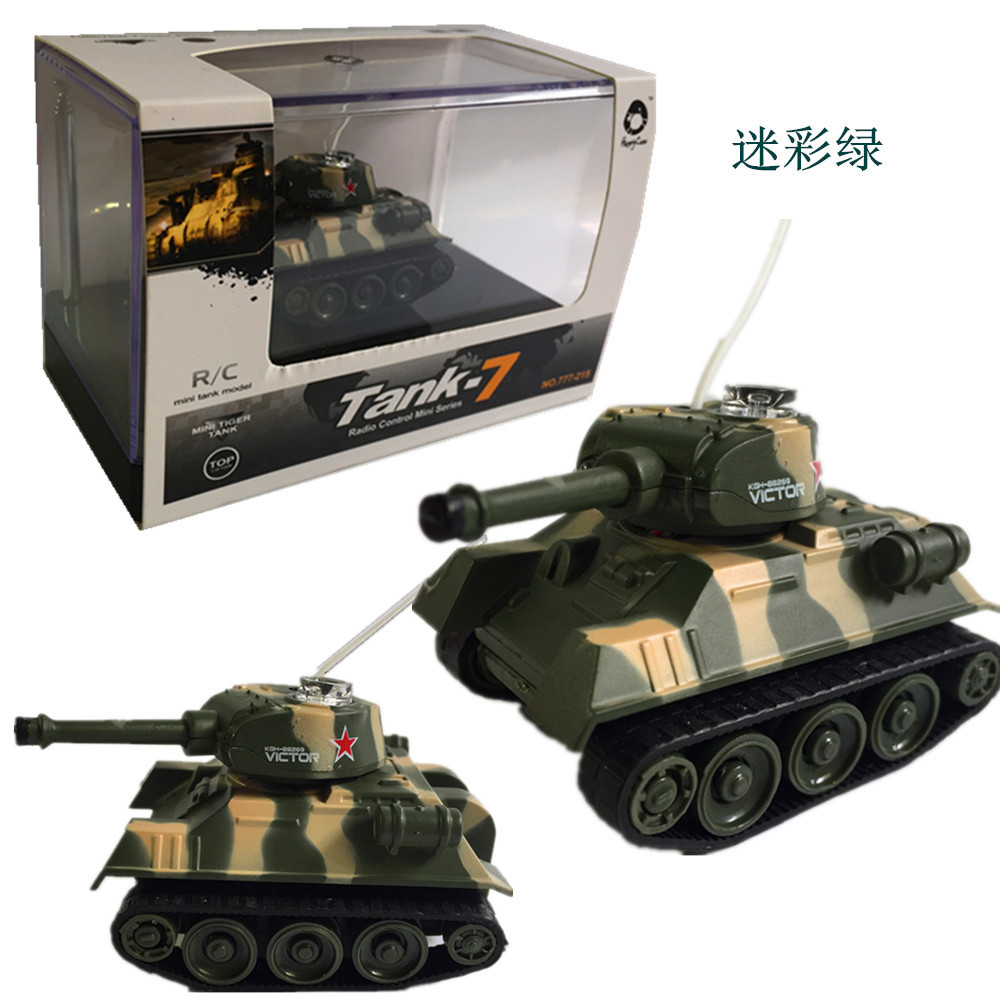 Mini Remote Control Tank Model Stone Wireless Charging Children Remote Control Car Military Model Toy 777-215