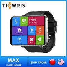 TICWRIS-Reloj inteligente MAX para hombre, 3 GB, 32 GB, con cámara de identificación facial, 2880 mAh, 2,86 pulgadas, GPS, wifi, 4G, Android, bluetooth, teléfono con tarjeta SIM
