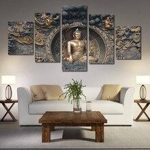 5 шт./компл. без рамки современные абстрактные Будда холст Картина модульная принт из мультфильма «Холодное сердце» плакат для медитации ис...