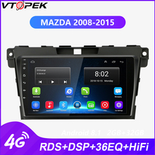 Vtopek Android Car Radio for Mazda CX7 CX-7 CX 7 ER  2008-2015 Tuner 4G Net WIFI Function Navigation GPS RDS DSP FM AM