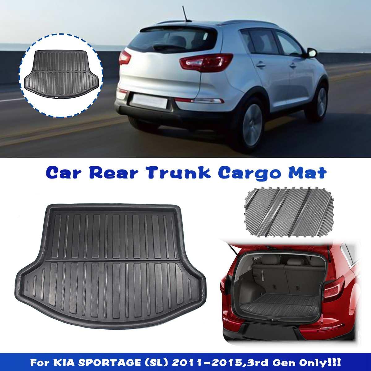 Car Cargo Liner Boot Tray Rear Trunk Cover Matt Mat Floor Carpet Kick Pad Mud Non-slip Anti Dust For KIA Sportage R SL 2011-2015