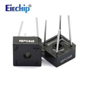 10PCS/lot KBPC610 6A 1000V diode bridge rectifier