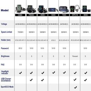 Image 5 - Bafang 48 в 500 Вт BBS02B Ebike комплекты средних коленчатых приводов для электровелосипеда Фотоэлементы с ЖК дисплеем Фотоэлементы P850C 500C C965 дисплей