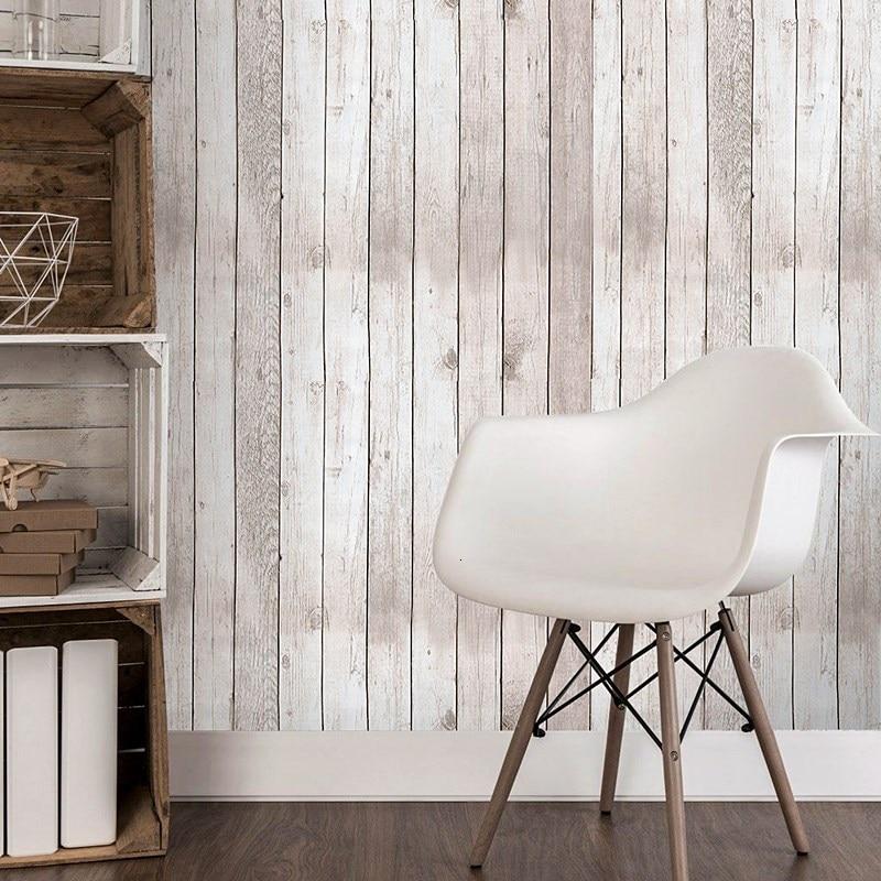 Imitation Wood Grain Panel Wallpaper Waterproof PVC Self Adhesive Vinyl Wood Wallpapers Roll For Living Room Kids Room Bedroom