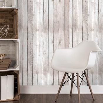 цена на Imitation Wood Grain Panel Wallpaper Waterproof PVC Self Adhesive Vinyl Wood Wallpapers Roll For Living Room Kids Room Bedroom