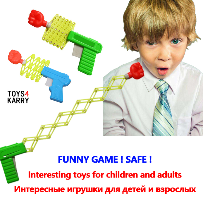 Classic Elastic Telescopic Fist Retractable Fist Shooter Trick Stress Reliever Funny Game Toys For Children Kids Safe Plastic