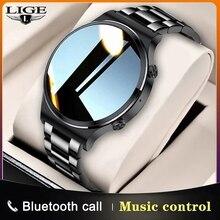LIGE – montre connectée de sport pour hommes, écran entièrement tactile, étanche IP67, Bluetooth, pour Android et ios, nouveau, 2021