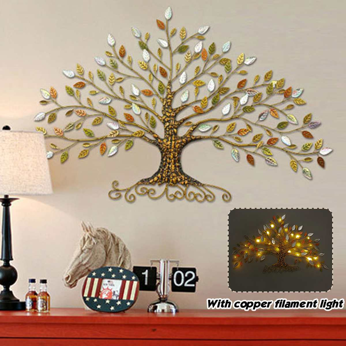 Iron Rich Tree Tree Of Life Wall Decoration Wall Home Decor Living Room Wall Decoration Home Decoration Accessories Wall Art