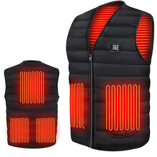 Men Jacket Smart Heating Cotton Vest USB Heated Jacket Women Outdoor Hiking Vests Flexible Thermal Winter Warm Jacket Coat cheap CN(Origin)