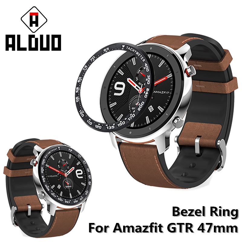 Bezel Ring For Xiaomi Amazfit GTR 47MM Edge Cover Dial Scale With Tachymeter For Amazfit GTR 47 Tempered Glass Screen Protector