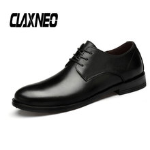 Buy CLAXNEO Man Shoes Dress Derby Shoe Genuine Leather Male social shoe Business Office Footwear Oxfords wedding shoes directly from merchant!