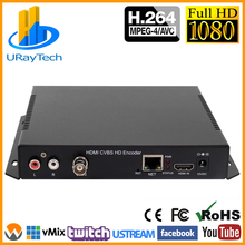 HDMI + CVBS AV RCA Encoder HD SD Video Audio Encoder H.264 IP Streaming Encoder