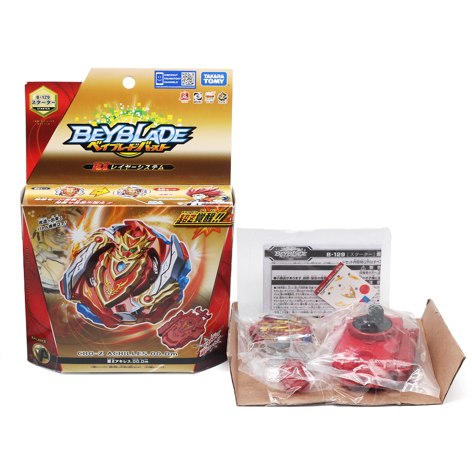 Takara Tomy Genuine <font><b>Beyblade</b></font> Burst <font><b>B129</b></font> Cho-Z Achilles.00.Dm <font><b>Beyblade</b></font> Arena Toupie Spinning Top Metal 4D Fusion Toy For Children image
