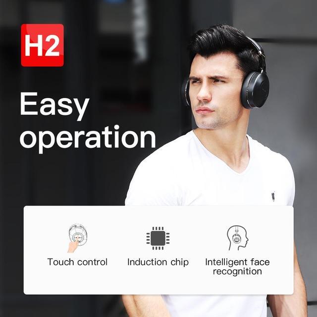Bluedio H2 Bluetooth 5.0 Headphones ANC Headset HIFI sound SD card slot 6
