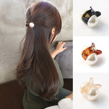 Korean Sweet Mini Round Pearl Hairpins For Women Girls Hair Claw Barrettes Hair Crab Clips Styling Make UP Tool Hair Accessories 1