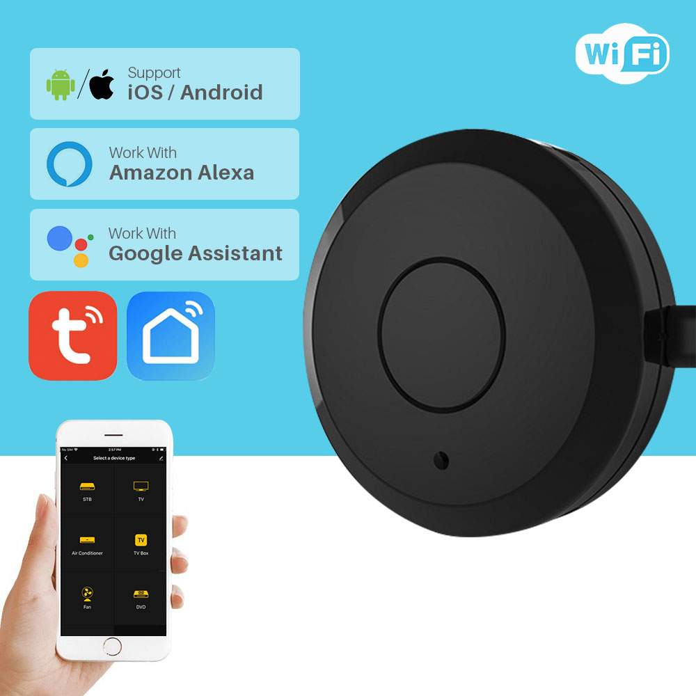 Tuya Universal Smart WiFi IR Remote Controller For TV Air Conditioner Voice Control Works With Alexa Google Home Smart Home