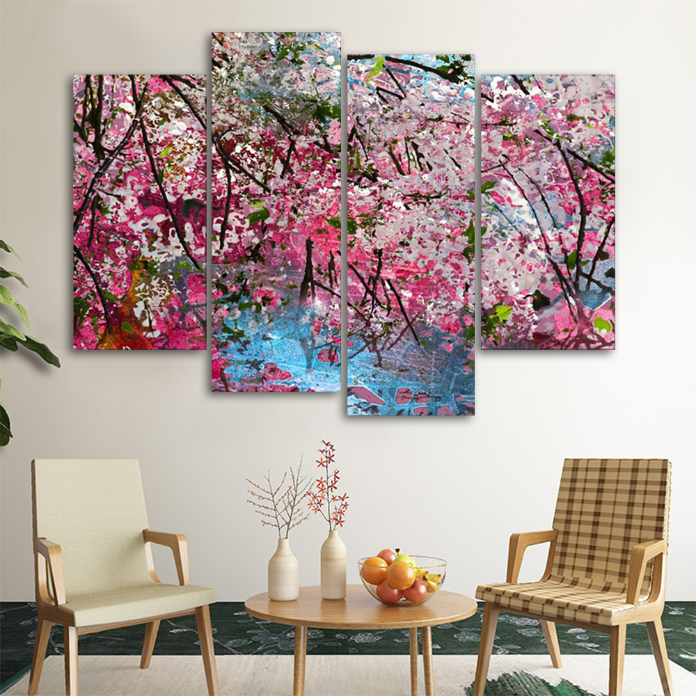 Plum Blossom Wall Pictures Poster Print Canvas Painting Calligraphy Decorative for Living Room Bedroom Home Decor Frameless in Painting Calligraphy from Home Garden