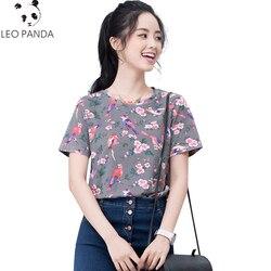 Novedad 2020 de la individuación Camisetas estampadas de moda de verano Camisetas de cuello redondo de las mujeres camisetas de manga corta de algodón de verano para mujer HF168 ees