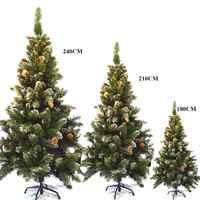 60cm 90cm 120cm 150cm 180cm 210cm 240cm árvore de natal artificial para decorações de casa presente das crianças árvore de plástico ano novo decoração do feriado delicado