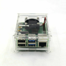For Raspberry Pi 4 Model B Acrylic Case Enclosure Box W / Cooling Fan Heatsink