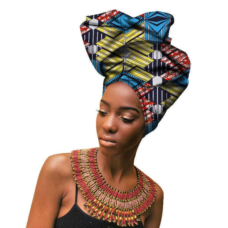 נשים שיער אביזרי מסורתי הדפסת טורבן צעיף אפריקאי אופנה סרט Headtie ילדה ראש גלישה בנד Bazin דאשיקי תלבושות
