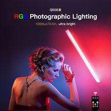 LUXCEO Q508A Multi-Color Photography Lamp Handheld RGB Led Video Light Photo Lighting 3000K/5750K For Youtube TikTok Live