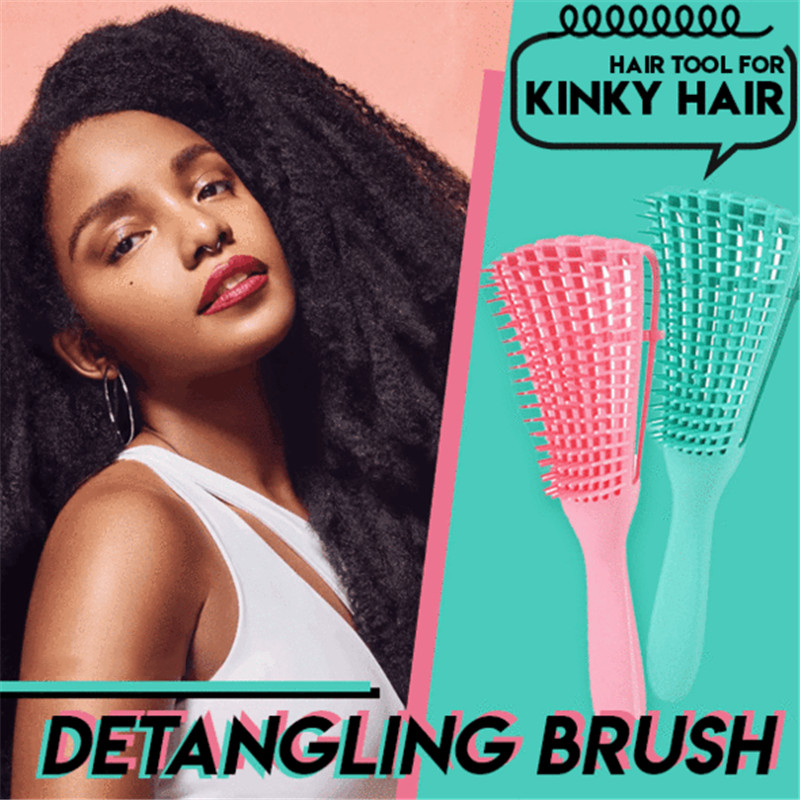 Detangling Brush 4c Hair Detangler Brush For Curly Hair Wet Thick Kinky Hair Adjust Hair Brush Scalp Massage Detangle Hairbrush