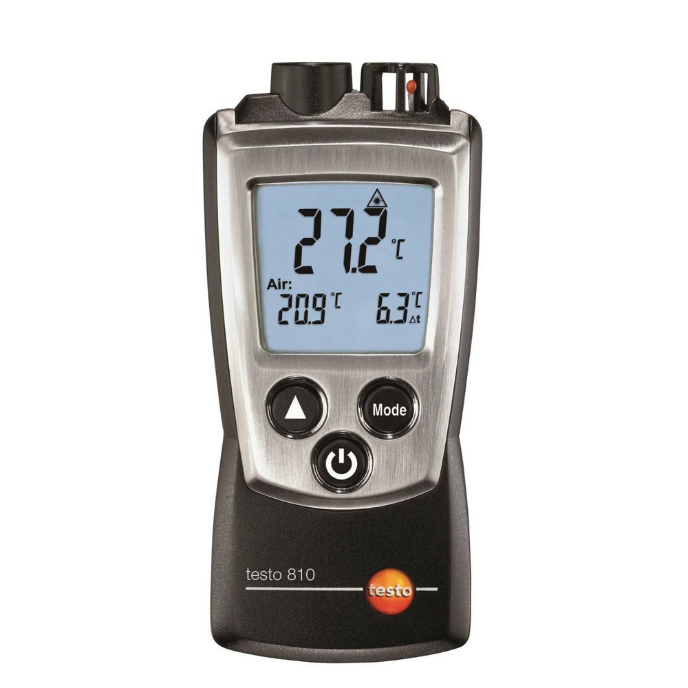 Portable Testo 810 Digital Infrared Thermometer Non-contact For HVAC Industry Two Mode Measure Temperature Meter