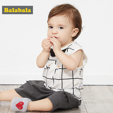 Balabala Boys Baby Vest 2020 Summer New Lightweight Outer Fashion Boy Cotton Cartoon Cute Sleeveless Top