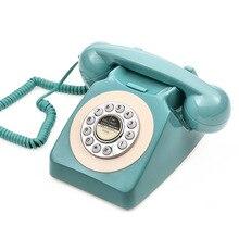 Teléfono antiguo, teléfono clásico Vintage Digital con cable, teléfono clásico europeo Retro, teléfono fijo decorativo, conjunto de teléfono de oficina para el hogar