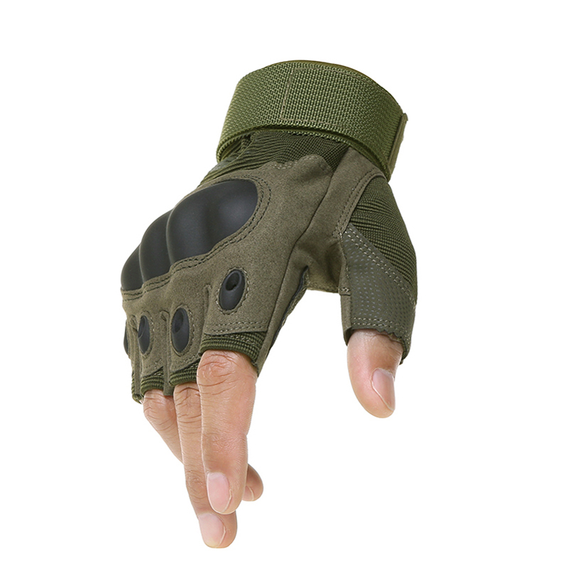 Tactical Fingerless Gloves Military Army Shooting Paintball Airsoft Bicycle Motorcross Combat Hard Knuckle Half Finger Gloves