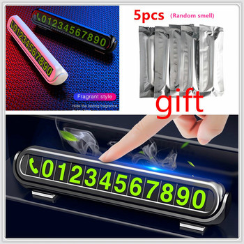 Car Temporary Parking Card Air Freshener Phone Number FOR Ford Focus MK2 MK3 MK4 kuga Escape Fiesta Ecosport Mondeo Fusion image