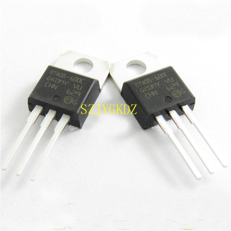 10PCS BTA08-600C TO-220 TRIAC 600V 8A TO220AB