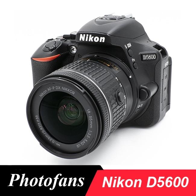 Цифровая зеркальная камера Nikon D5600 с объективом 18-55 мм VR, новая модель