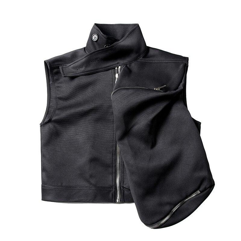 19ss мужской Готический свободный черный жилет, новый темно черный локомотив, панк большой боковой карман, жилет, безрукавка, жилет Homme - 4