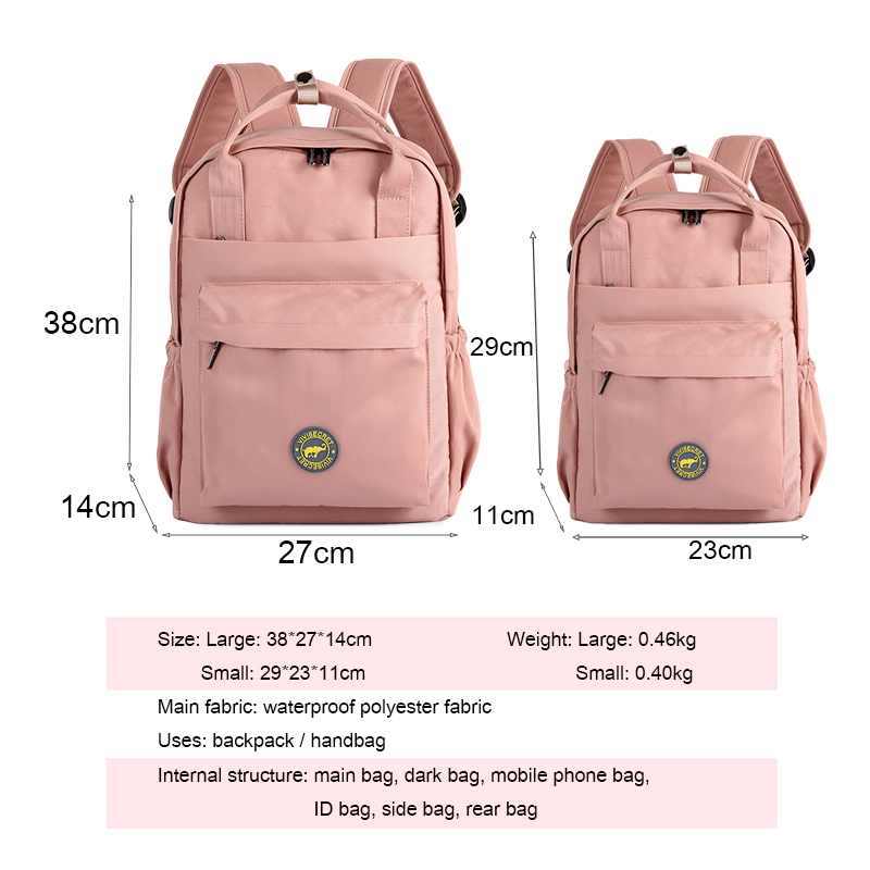 New Multifunction Women Backpack Waterproof Polyester Bag Solid Color Laptop Backpacks Schoolbag For Teenager Girls Boys Travel