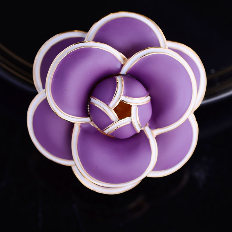 Multicolor Flower Brooch Pin for Women's Enamel Vitage Brooch Jewelry Clothes Scarf Buckle Garment Accessories Fine Jewelry Gift-1