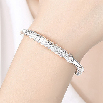 Sterling Silver Peacock Bangle  3