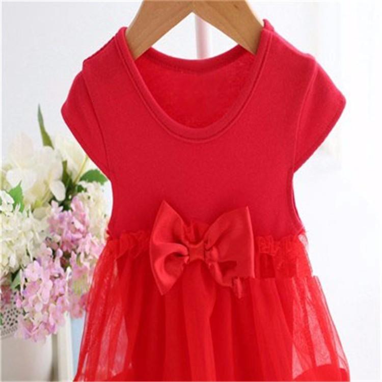 Ha5249847322e45b8a15c38876783430aV Girls Dress 2018 Summer Explosion Solid Color Denim Dress Cartoon Polka Dot Bow Cartoon Bunny Satchel Korean Baby Cute Dress